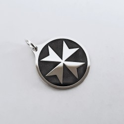 Krzyż Maltański - Wisiorek - Srebro