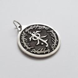 Wisiorek J.R.R Tolkien z runami elfów- Slavieszki.pl